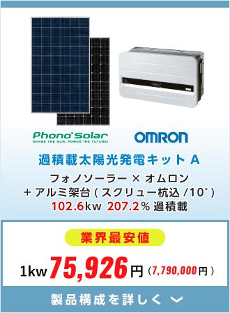 ラインナンップ 過積載太陽光発電キットA