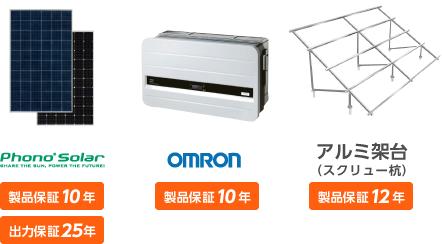 Phono Solar OMRON 陸上架台(スクリュー杭込/10°)