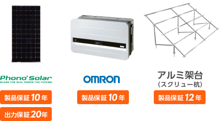 Phono Solar OMRON 陸上架台(スクリュー杭込