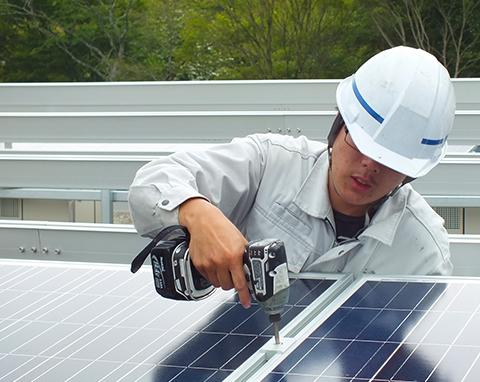 太陽光発電システム施工について